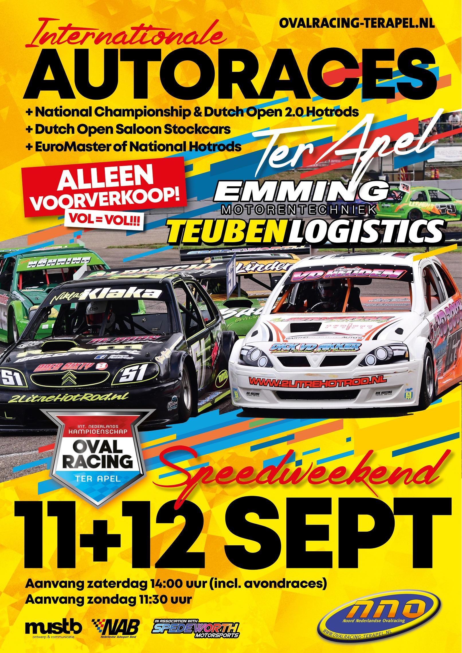 Internationale Ovalraces Publiek 11 & 12 september 2021