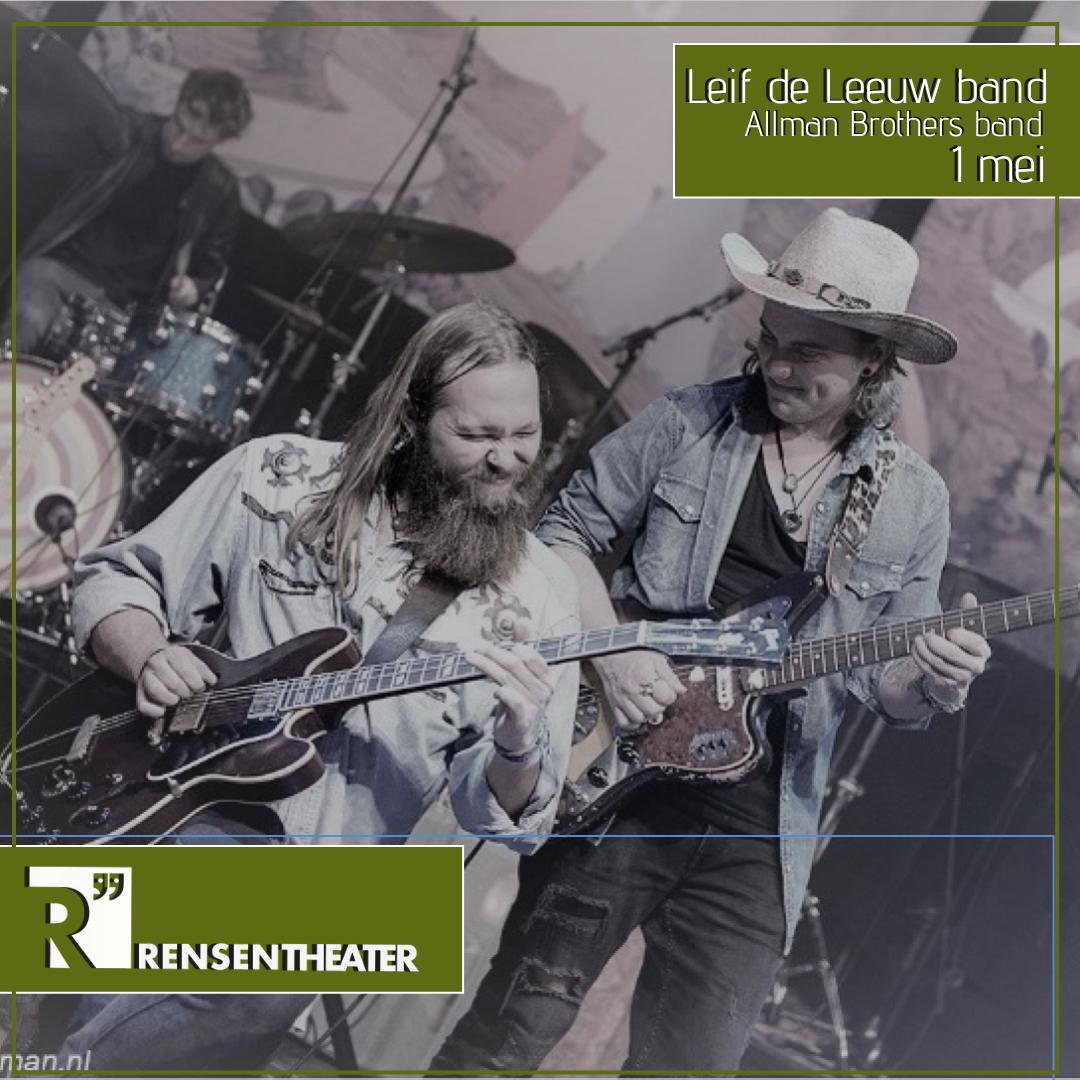 Leif de Leeuw band spelen Allman Brothers band